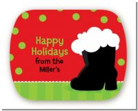 Santa's Boot - Personalized Christmas Rounded Corner Stickers