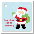 Santa's Green Bag - Personalized Christmas Card Stock Favor Tags thumbnail