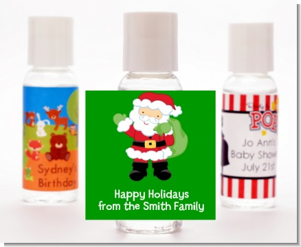 Santa's Green Bag - Personalized Christmas Hand Sanitizers Favors