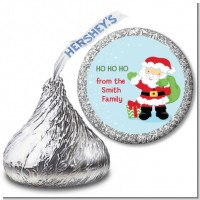 Santa's Green Bag - Hershey Kiss Christmas Sticker Labels