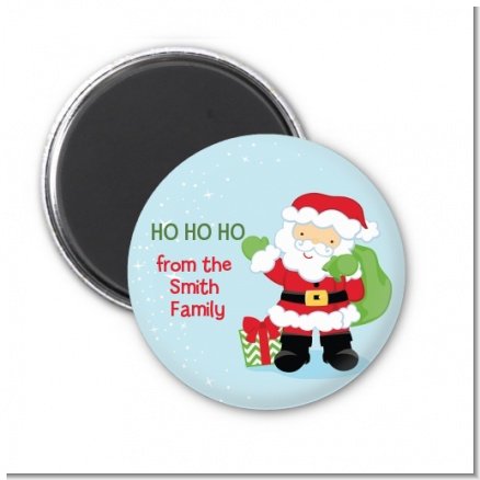 Santa's Green Bag - Personalized Christmas Magnet Favors