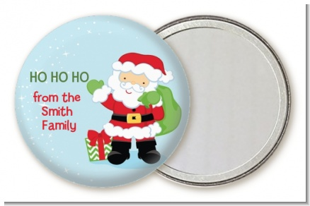 Santa's Green Bag - Personalized Christmas Pocket Mirror Favors