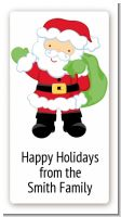 Santa's Green Bag - Custom Rectangle Christmas Sticker/Labels