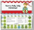 Santa's Little Elf - Personalized Christmas Candy Bar Wrappers thumbnail