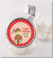 Santa's Little Elf - Personalized Christmas Candy Jar