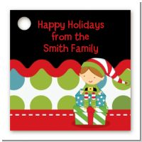 Santa's Little Elf - Personalized Christmas Card Stock Favor Tags