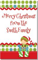 Santa's Little Elf - Personalized Christmas Wall Art