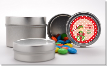 Santa's Little Elf - Custom Christmas Favor Tins