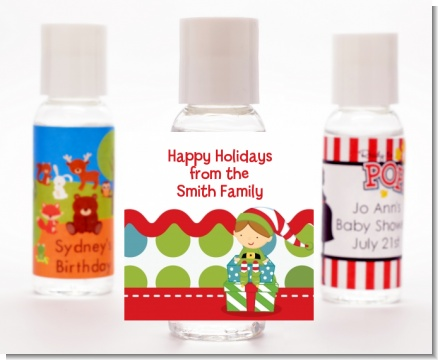 Santa's Little Elf - Personalized Christmas Hand Sanitizers Favors