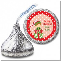 Santa's Little Elf - Hershey Kiss Christmas Sticker Labels