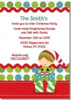 Santa's Little Elf - Christmas Invitations