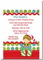 Santa's Little Elf - Christmas Petite Invitations
