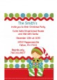 Santa's Little Elf - Christmas Petite Invitations thumbnail