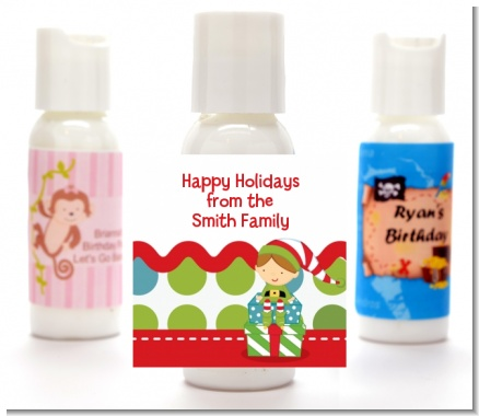 Santa's Little Elf - Personalized Christmas Lotion Favors