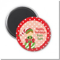 Santa's Little Elf - Personalized Christmas Magnet Favors