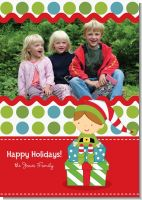 Santa's Little Elf - Personalized Photo Christmas Cards