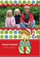 Santa's Little Elf - Personalized Photo Christmas Cards thumbnail