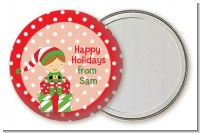Santa's Little Elf - Personalized Christmas Pocket Mirror Favors
