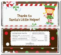Santa's Little Elfie - Personalized Christmas Candy Bar Wrappers