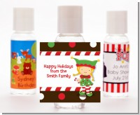 Santa's Little Elfie - Personalized Christmas Hand Sanitizers Favors