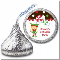 Santa's Little Elfie - Hershey Kiss Christmas Sticker Labels