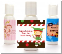 Santa's Little Elfie - Personalized Christmas Lotion Favors