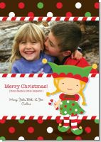 Santa's Little Elfie - Personalized Photo Christmas Cards