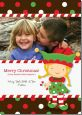 Santa's Little Elfie - Personalized Photo Christmas Cards thumbnail