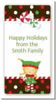 Santa's Little Elfie - Custom Rectangle Christmas Sticker/Labels