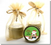 Santa's Work Shop - Christmas Gold Tin Candle Favors
