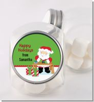 Santa's Work Shop - Personalized Christmas Candy Jar