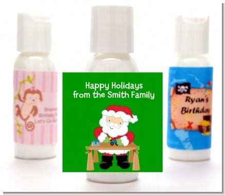 Santa's Work Shop - Personalized Christmas Lotion Favors