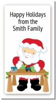 Santa's Work Shop - Custom Rectangle Christmas Sticker/Labels