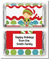 Santa's Little Elf - Personalized Christmas Mini Candy Bar Wrappers