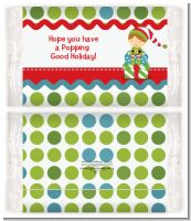 Santa's Little Elf - Personalized Popcorn Wrapper Christmas Favors