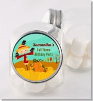 Scarecrow - Personalized Birthday Party Candy Jar