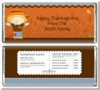 Scarecrow Fall Theme - Personalized Baby Shower Candy Bar Wrappers
