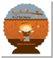 Scarecrow Fall Theme - Personalized Baby Shower Centerpiece Stand thumbnail