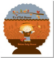 Scarecrow Fall Theme - Personalized Baby Shower Centerpiece Stand