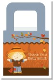 Scarecrow Fall Theme - Personalized Baby Shower Favor Boxes