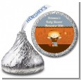 Scarecrow Fall Theme - Hershey Kiss Baby Shower Sticker Labels thumbnail