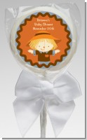 Scarecrow Fall Theme - Personalized Baby Shower Lollipop Favors