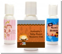 Scarecrow Fall Theme - Personalized Baby Shower Lotion Favors
