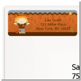 Scarecrow Fall Theme - Baby Shower Return Address Labels