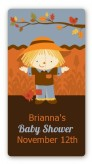Scarecrow Fall Theme - Custom Rectangle Baby Shower Sticker/Labels