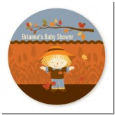 Scarecrow Fall Theme - Personalized Baby Shower Table Confetti