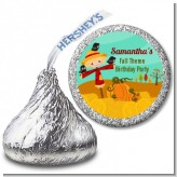 Scarecrow - Hershey Kiss Birthday Party Sticker Labels