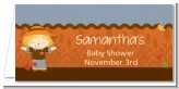 Scarecrow Fall Theme - Personalized Baby Shower Place Cards