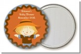 Scarecrow Fall Theme - Personalized Baby Shower Pocket Mirror Favors