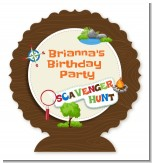 Scavenger Hunt - Personalized Birthday Party Centerpiece Stand